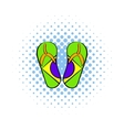 Brazilian flip flops icon comics style vector image vector image