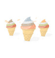 bright and tasty ice cream vector image vector image