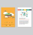brochure template design Abstract BackgroundsFlat vector image vector image