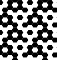 Checkered geometric hexagon background seamless vector image vector image