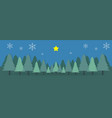 christmas day camp mountain paper postcard vector image vector image