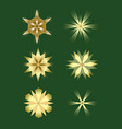 christmas stars design elements nice gold stars vector image