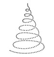 christmas tree in the form of a twisted spiral vector image