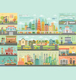city life infographic set with charts and other vector image vector image