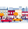 city street urban landscape men and women vector image
