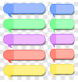 colored speech bubbles vector image vector image