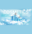 cosmetics bottles beauty product line landing page vector image vector image