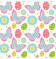 cute easter seamless pattern spring repeating vector image vector image