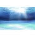 deep underwater ocean scene vector image