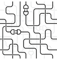 electrical wiring vector image