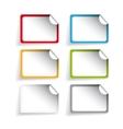 Empty label or sticker set vector image vector image