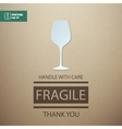 Fragile Handle with Care Wineglass vector image