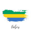 gabon watercolor national country flag icon vector image vector image
