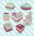 gift box collection colorful boxes vector image