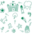 Green palace doodle vector image vector image
