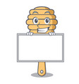 grinning with board honey spoon character cartoon vector image