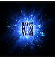 Happy New Year Card Blue explosion vector image vector image