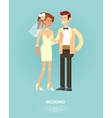 Happy wedding couple vector image vector image