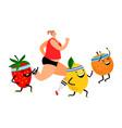 healthy vegan lifestyle vector image vector image