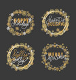 holly jolly quote merry christmas happy new year vector image vector image