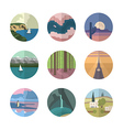 Landscapes icons collection vector image