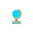 logo for business globe vector image vector image