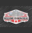 logo for montreal vector image vector image