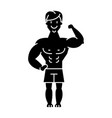 man strong - bodybuilder - muscles icon vector image