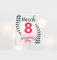 march 8 happy womens day background vector image vector image