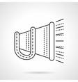 Megaphone flat line icon vector image vector image