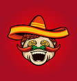 mexican chef cook sombrero with chilli vector image vector image