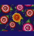 mexican floral embroidery seamless pattern textile vector image vector image