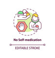 no self-medication concept icon vector image vector image