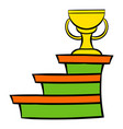pedestal and winner cup icon icon cartoon vector image vector image