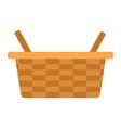 picnic basket icon flat isolated vector image