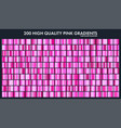 pink chrome gradient setpatterntemplatelove vector image