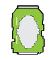 pixelated beer can icon vector image vector image