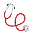 professional stethoscope mockup realistic style vector image