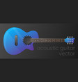 realistic gradient acoustic guitar isolated vector image