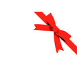 red bow cartoon red ribbon satin bow for xmas vector image vector image