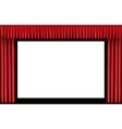 Red curtain Blank cinema screen vector image vector image