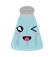 salt bottle kawaii style vector image vector image