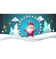santa claus paper landscape merry christmas vector image vector image