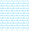 Scandinavian seamless blue pattern in hand drawn vector image