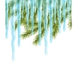Seamles border with icicles vector image vector image