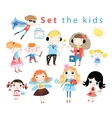 Set of different funny kids vector image