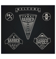 Set of three retro emblems for Barber Shop vector image vector image