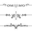 set vintage decorative curls swirls monograms vector image