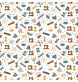 sewing or knitting seamless pattern design vector image vector image