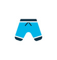 shorts icon colored symbol premium quality vector image vector image